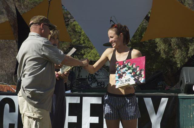 """Paul """"Ratt"""" Rudman Race Director Hands Over The Prize"""