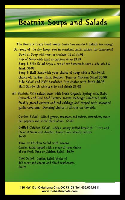 beatnix menu 2
