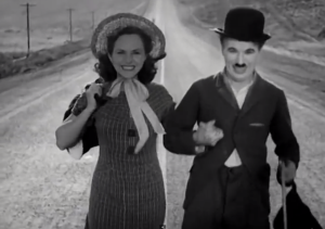 a screen grab from the trailer for the film Modern Times found on charliechaplin.com