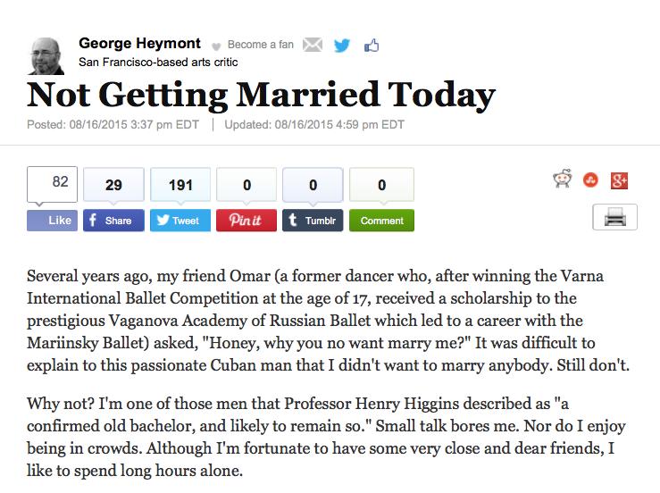 Huffington Post column