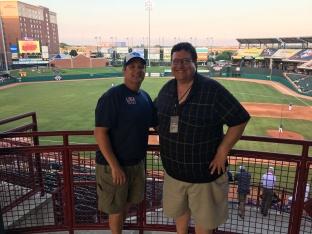 Brent and Ken at Bricktown Ballpark